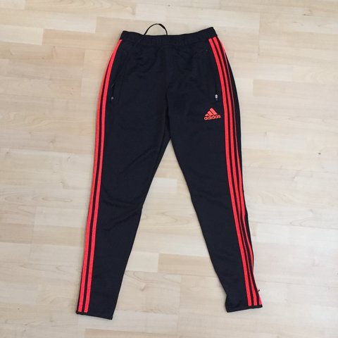 239d4c05b Infrared/black adidas soccer pants worn 1x. Fits small and - Depop