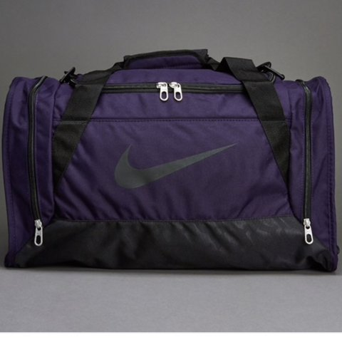 ccd7df6bc888 Nike purple and black duffle gym bag! Very large with lots   - Depop