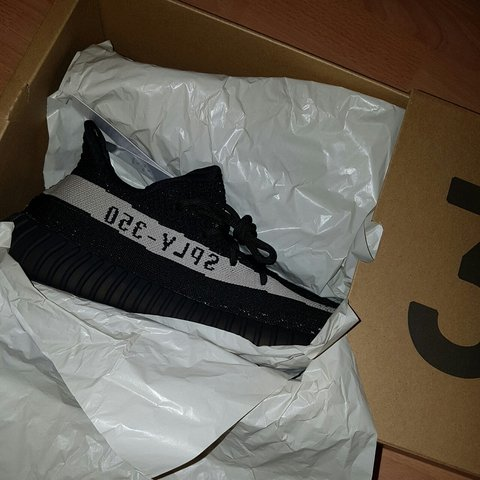 new style f5b39 0a9d8  jackclose. 2 years ago. Leeds, UK. Adidas Yeezy Boost 350 v2 core black white  size ...