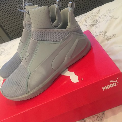 4bd48d2f5f2937 Puma Fierce Core Kylie Jenner Forever Grey Silver Colour  6 - Depop