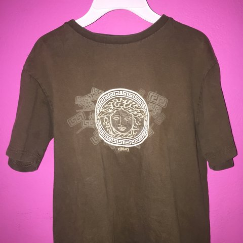 f13a3441b Vintage Versace tee fits a womens small-medium. Graphic is - Depop