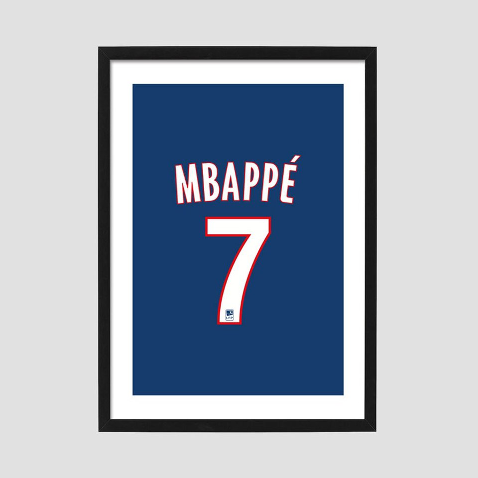 Kylian Mbappe Psg 2019 2020 Home Poster All Of Our Depop