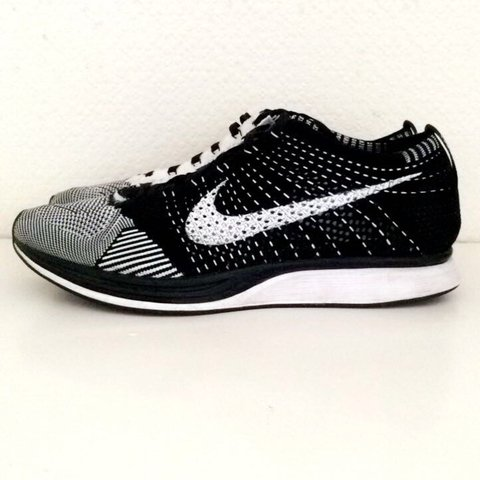 9adff29e Nike flyknit racer Black and white . Now a dead stock item. - Depop