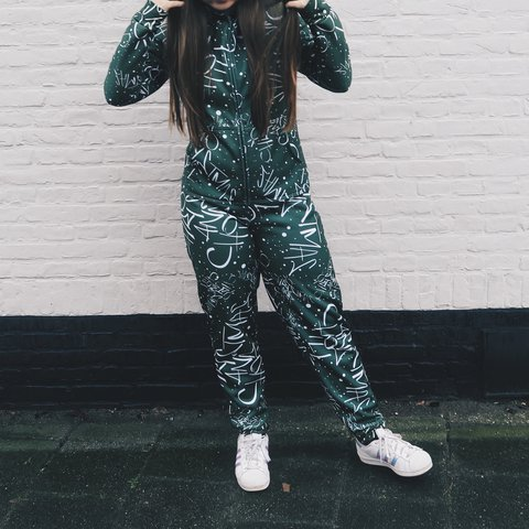 9e88043580dc0 Ariana grande christmas and chill onesie size XS I dont like - Depop