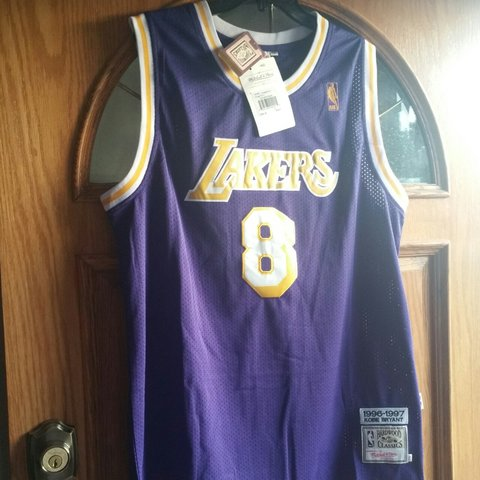 777a4209a63 Authentic kobe Bryant  8 hardwood classic jersey. Tag still - Depop