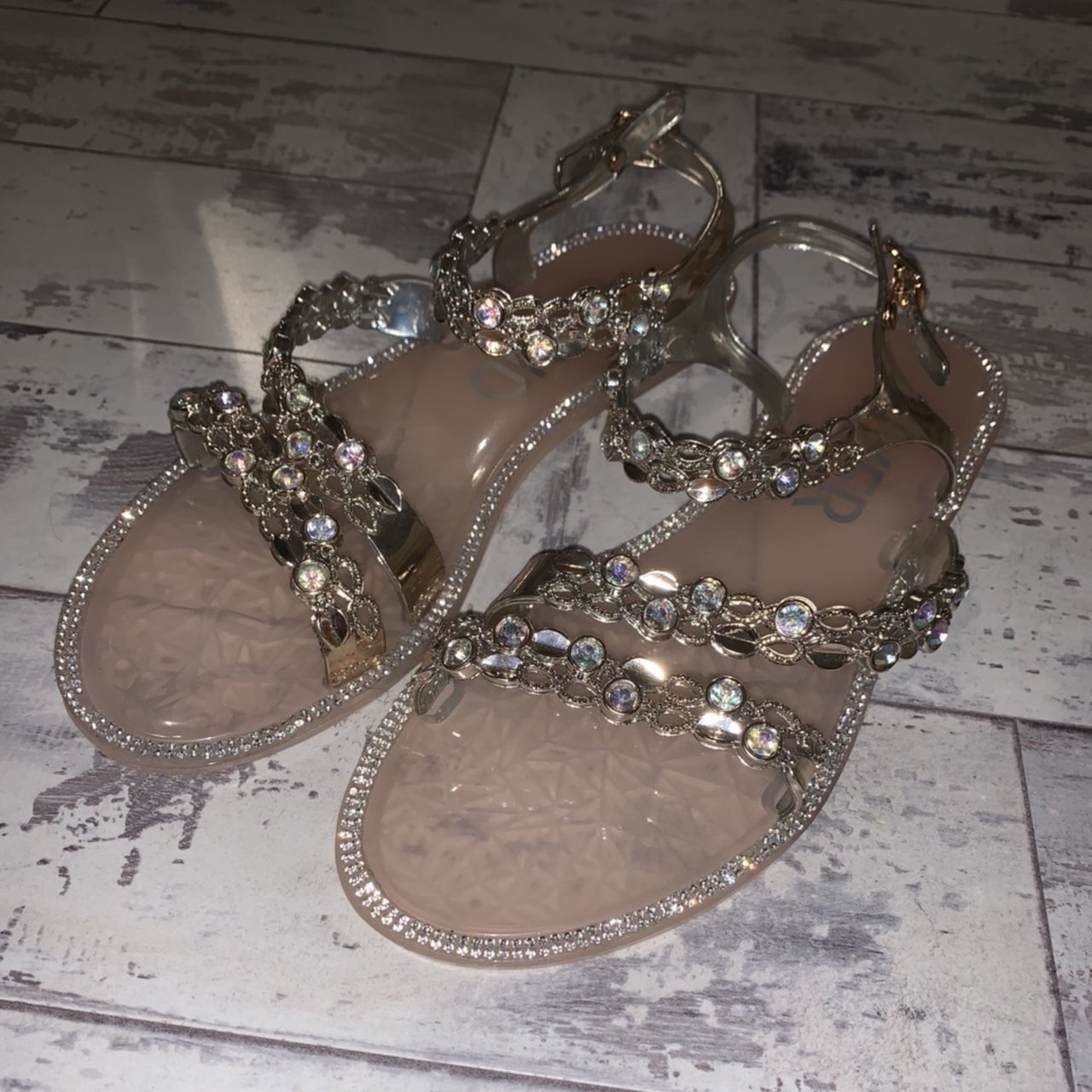 RIVER ISLAND Girls nude pink sparkly