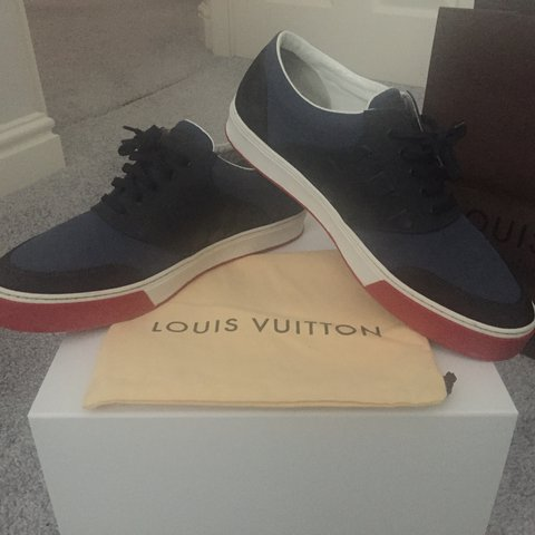 80d727debc59 Men s Louis Vuitton Low Trainers• 100% Authentic- Bought LV - Depop