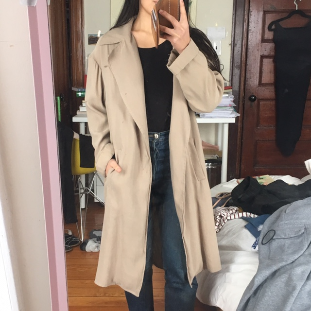 d8e6191164 Lightweight flowy trench from Zara. Tagged XS with... - Depop