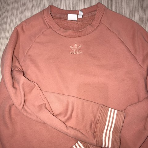 Adidas crop top tracky sweater jumper pullover. Depop
