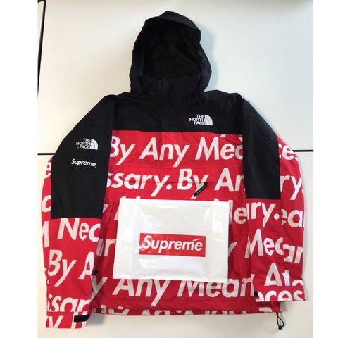 03852b8f9d71 Supreme x The North Face by any means necessary half zip in - Depop