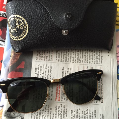 49d7df5cc8 Genuine Ray Ban clubmaster sunglasses. Only worn a few for - Depop