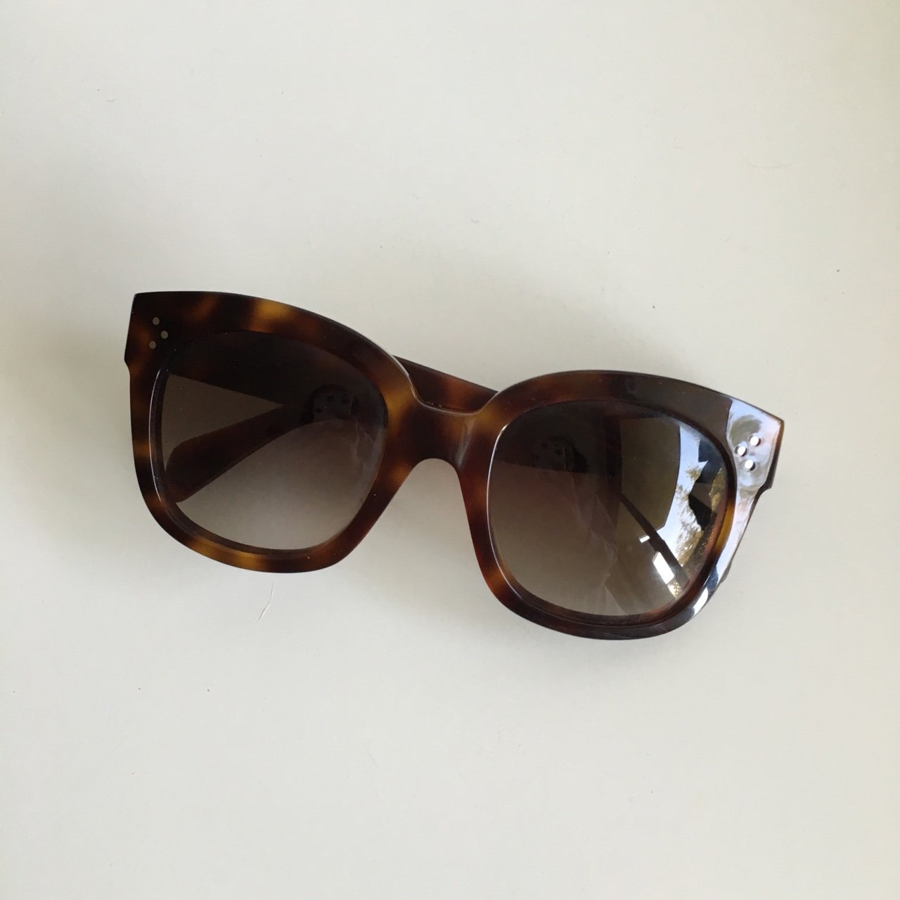 7089ded0a07 Celine New Audrey Sunglasses in Tortoise Shell. Comes with - Depop