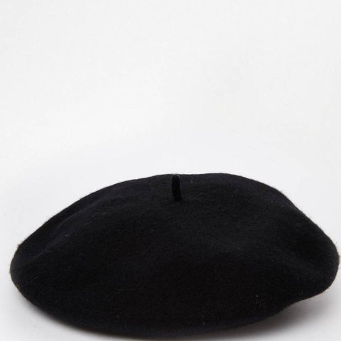 cdb9a63e Black wool beret/ worn once, like new Tags: Baker hat, and - Depop