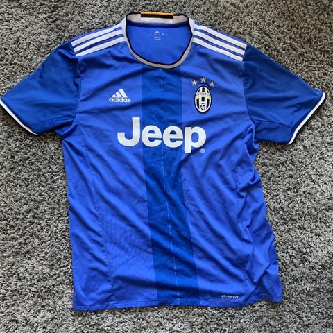 2ced0ed9c Juventus Official Blue Adidas Jeep Kit Shirt Size - - £30 - Depop