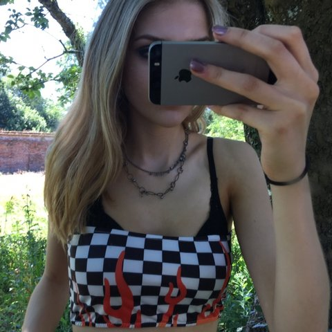 1762619e5c Black and white checkerboard   check race car skate flame or - Depop