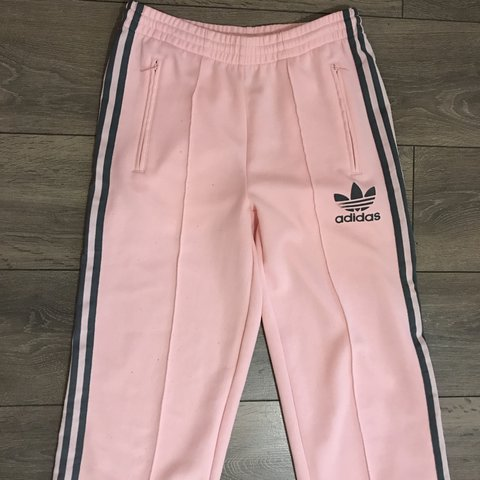 f56e4bcd779f Baby Pink adidas tracksuit bottoms pants Joggers size 10 - Depop