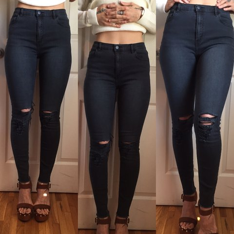 All about eve high waisted stretch skinny jeans! Faded Size - Depop c7e90bcb2