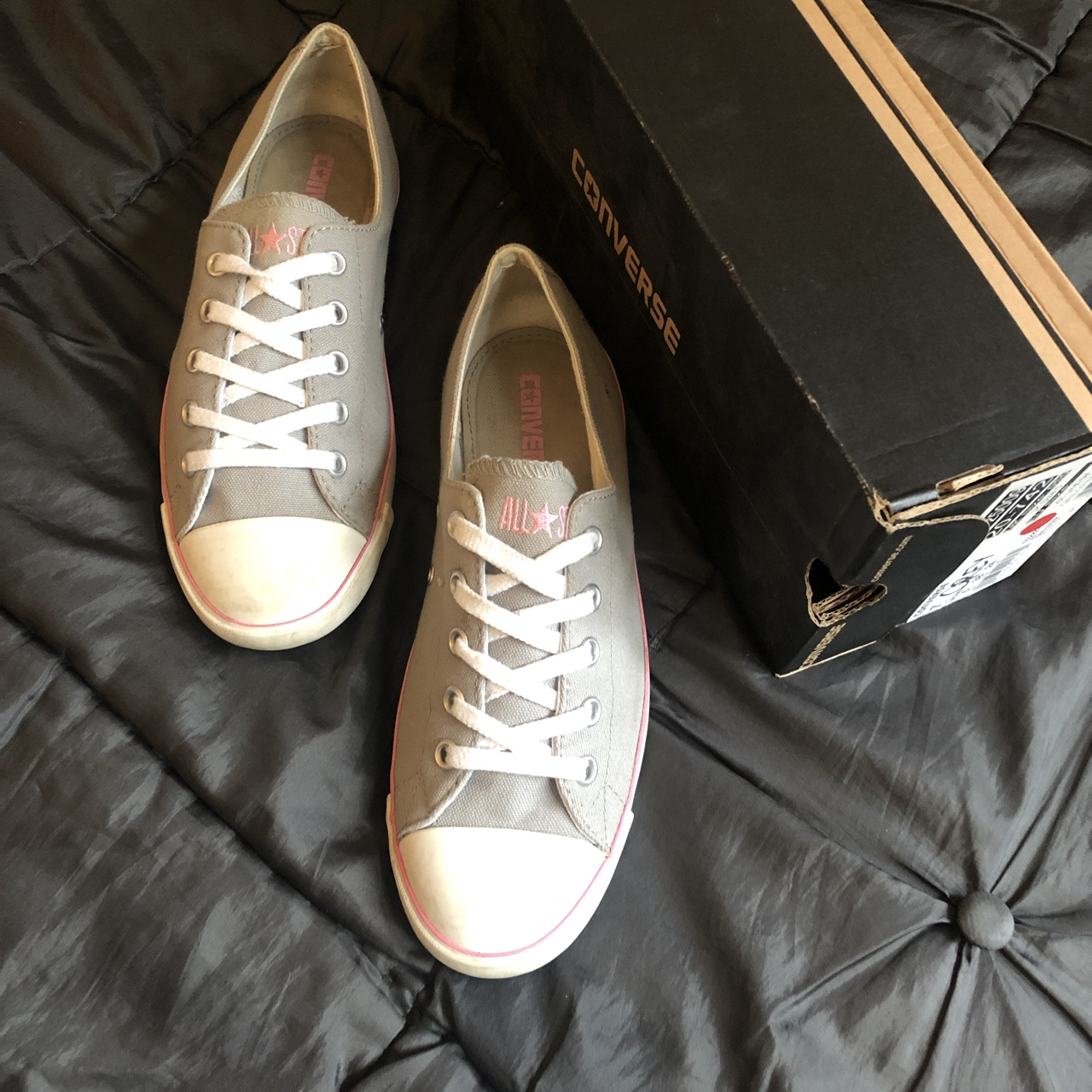 CONVERSE CT LITE OX GREY/PINK TRAINERS