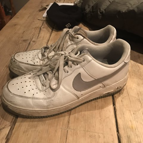 e7297f93cf32 Nike Air Force 1 - very rare colourway grey and white - 7 10 - Depop
