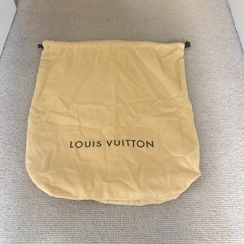 782a72444a51 AUTHENTIC LOUIS VUITTON DRAWSTRING DUST BAG Store your bag - Depop