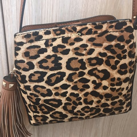 7b449f13a95b Aldo leopard print cross body bag Small and compact Used - Depop