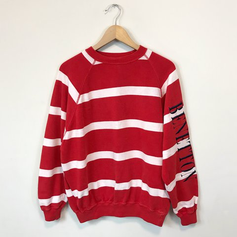 edcc014f8bc Vintage 80s Benetton Rugby Shirt