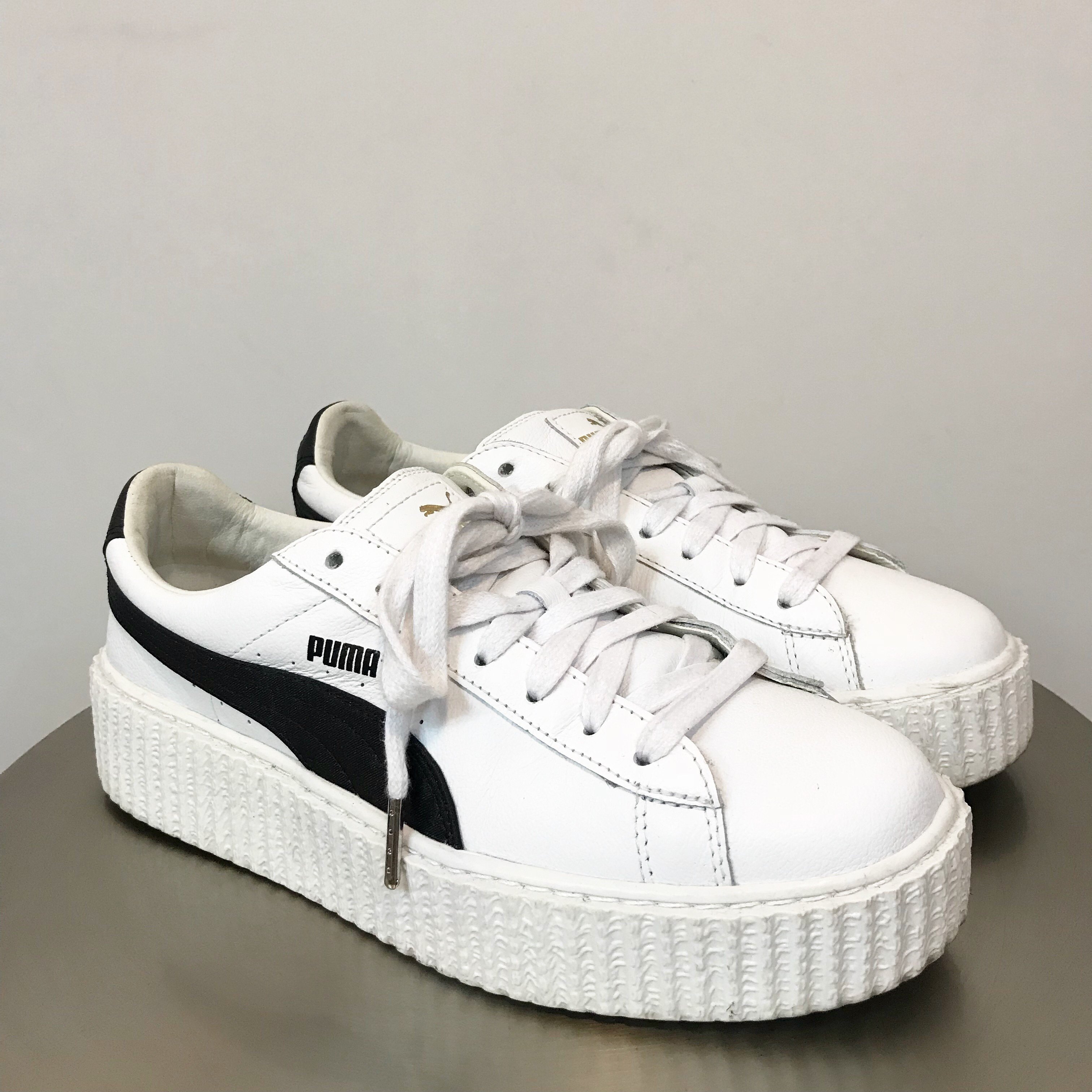 new product 7e880 87b5c White/ Black Rihanna Fenty Puma Creepers Women's... - Depop