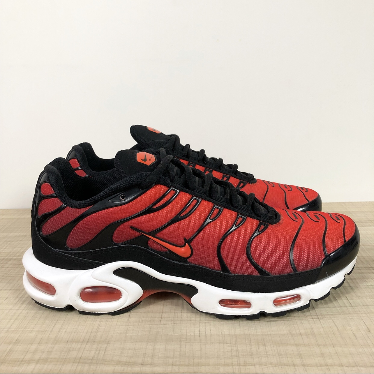 super popular e6180 07e3a Nike Air Max Plus TN Team Red/ Orange Item... - Depop