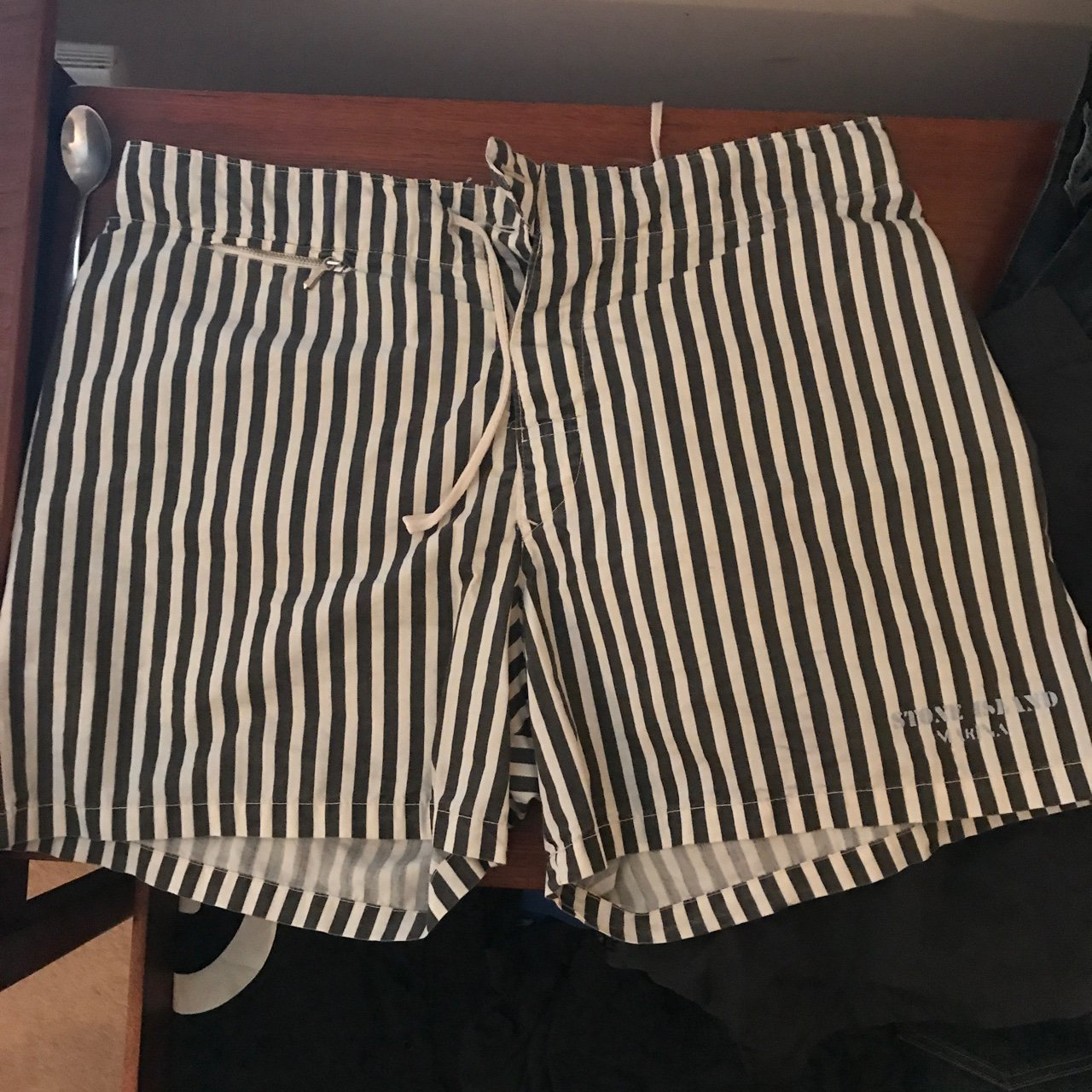 c2db71962f @cmfc_afc. 2 years ago. London, United Kingdom. Stone Island Marina vintage  striped swim shorts.