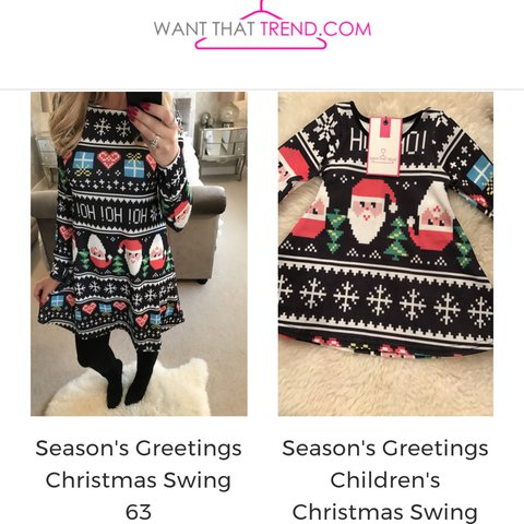 aa82e722656a5 Christmas swing matching mom and daughter dresses. Mom size - Depop