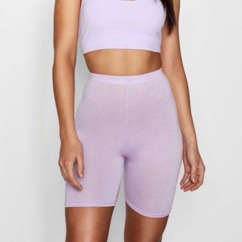 2244caf0b775 Lilac Biker Shorts from BooHoo. UK size 10 (Large) but fits - Depop
