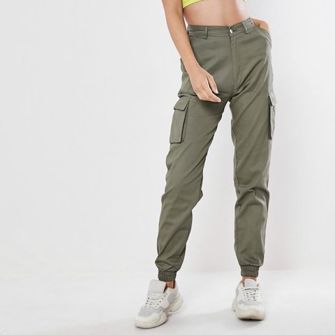 Cargo Pants From Missguided Petite Army Green Color Petite Depop
