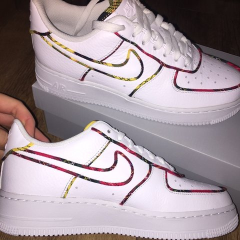 Exclusive Nike Air Force 1 Lo Tartan Women s Trainers! size - Depop 8fed9080ff
