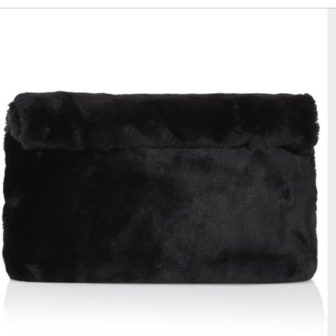 9977d5bd7cc8 Topshop faux fur black clutch bag Used a couple of times