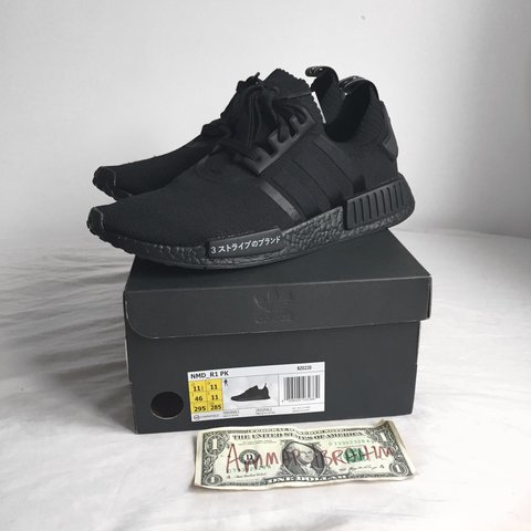 6c8e1281d Adidas NMD Japan Triple Black UK11 DS Never worn Retail was - Depop