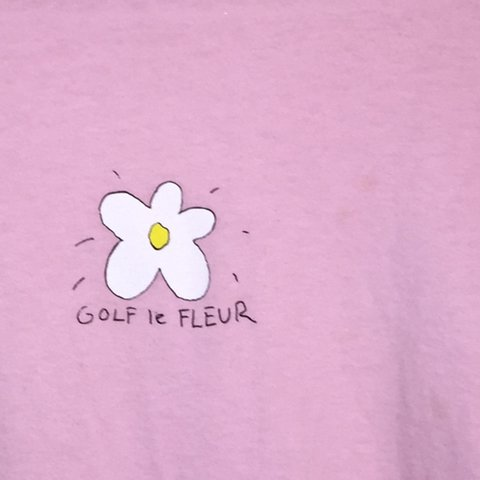 Light Pink Golf Le Fleur Shirt In Size Small Some Piling In Depop