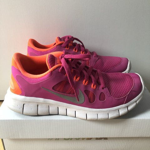 low priced b540b ca718  aimazin. 9 months ago. London, United Kingdom. Nike free 5.0 trainers. Pink  and neon ...