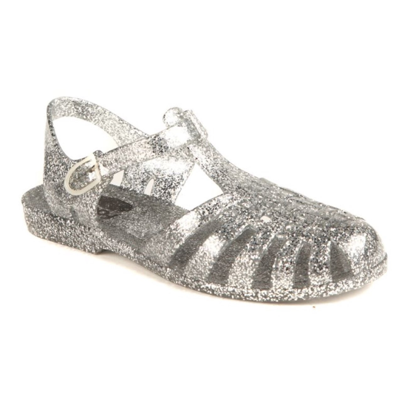 b38e653a6c54 💿 Factorie Silver Sparkly Glitter Jelly Sandals✨ Size UK 5 - Depop