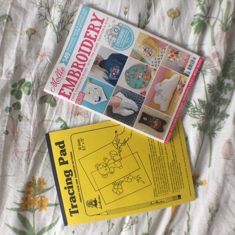 Embroidery Book And Tracing Paper Perfect For Beginners A Depop