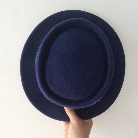 be5e110cd3477 Stylish hat .🎩👌💙 Royal blue size s-m unisex  hat  fedora - Depop