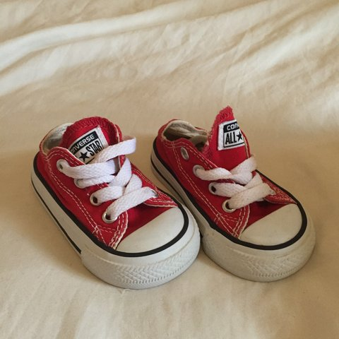 Size 3 baby infant converse in red  83a844add