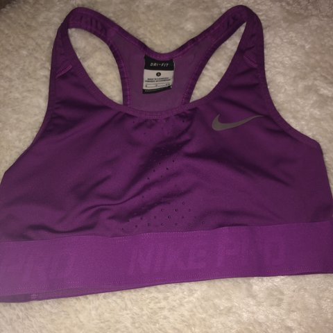 purple nike bra