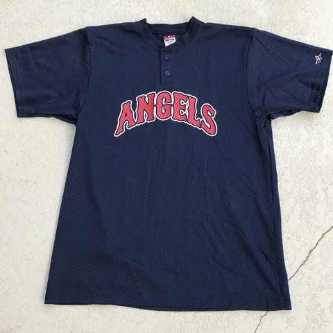 8efbec7a334 Vintage 90s California Anaheim Los Angeles Angels MLB jersey - Depop