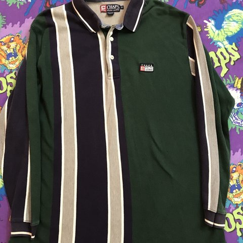 ee39debdf1 @jyoungg. 7 months ago. Spring Hill, United States. Sick vintage 90s Chaps  Ralph Lauren long sleeve striped polo shirt ...