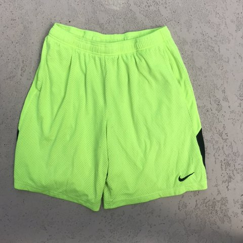 c29ba019f27 @jyoungg. 3 months ago. Spring Hill, United States. Nike dri fit lime green  black mesh athletic gym shorts size Large Tags vtg 90s Retro jordan ...