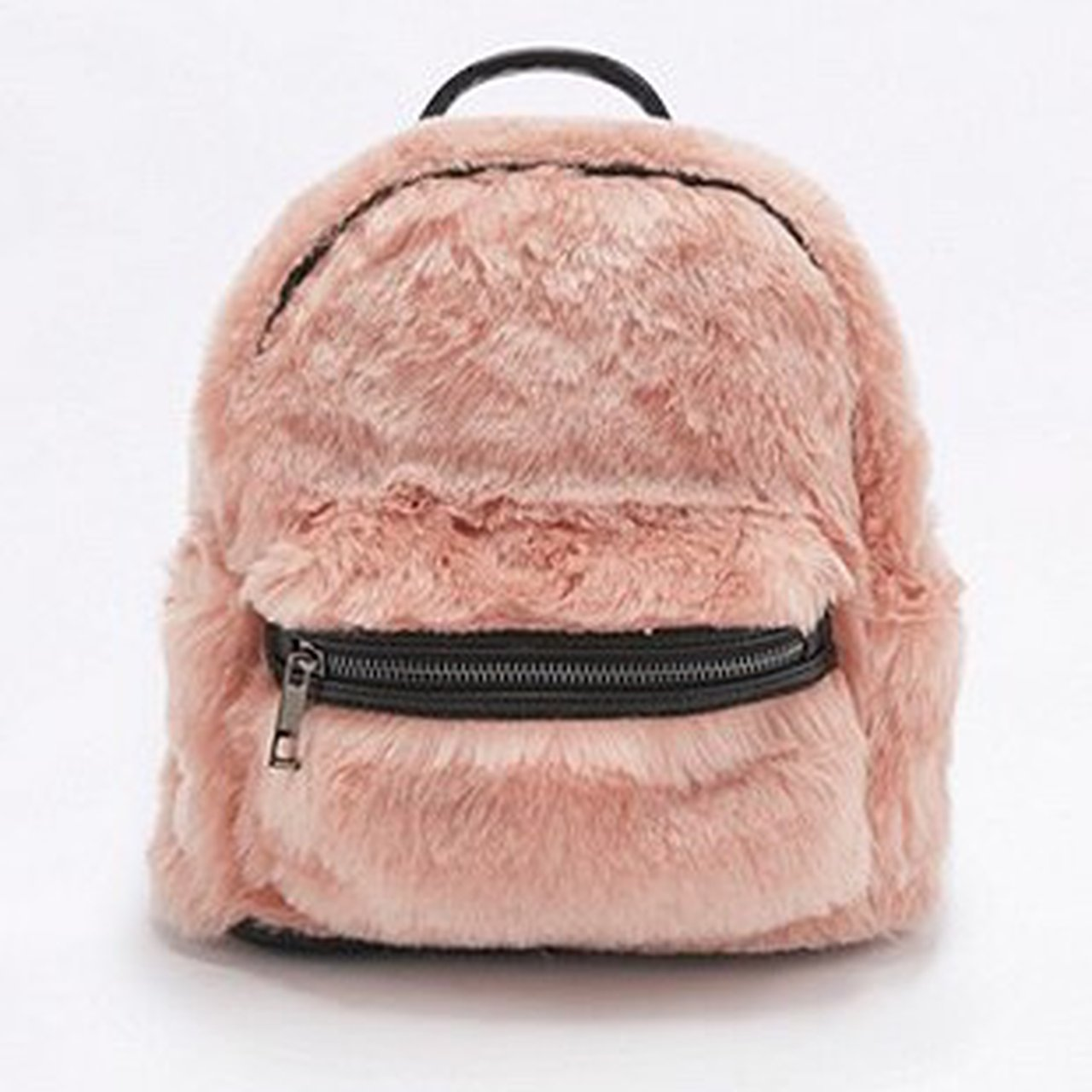 cbac0d316c82 urban outfitters faux fur mini pink fluffy backpack bag