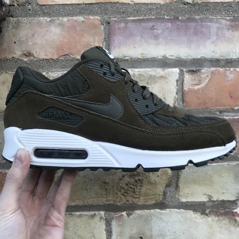 632887bcc48c5 Nike Air Max 90. Olive green white colourway. Worn but to - Depop