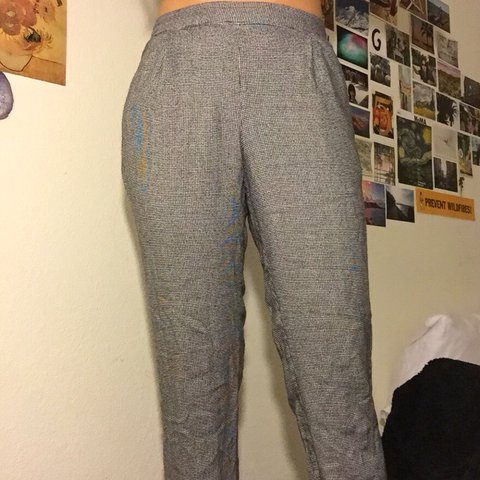 39156274 @ga_b_riella. last year. Tracy, United States. houndstooth jogger/trouser  from zara ...