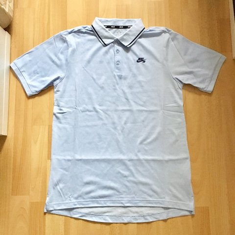 95f9effe @kevlar94. 17 days ago. Southampton, United Kingdom. Nike SB light blue polo  shirt | Size M | barely ...