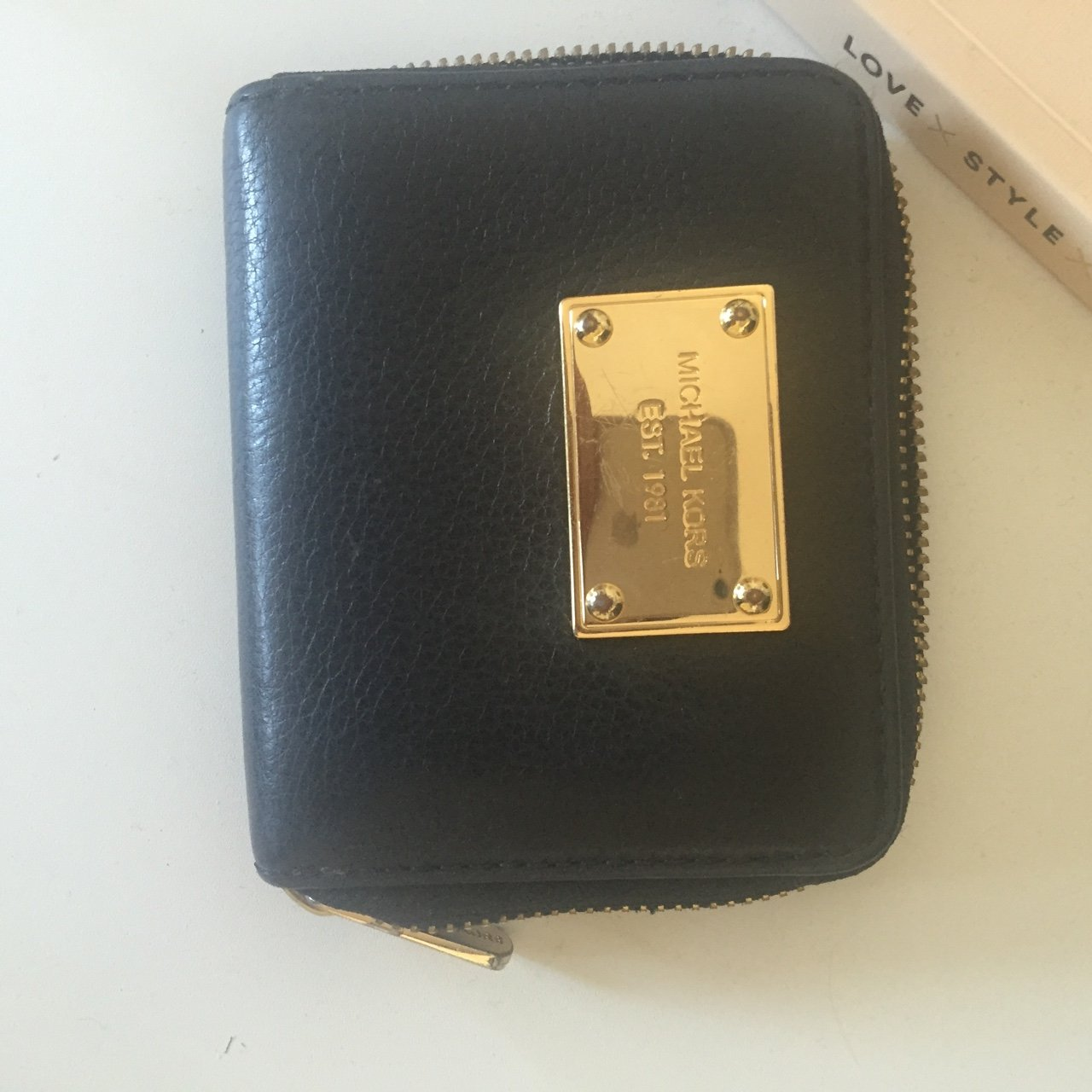 c8a71c374590 @michellevex. FollowingFollow. 24 days ago. London, UK. Michael Kors wallet  in black leather with gold ...